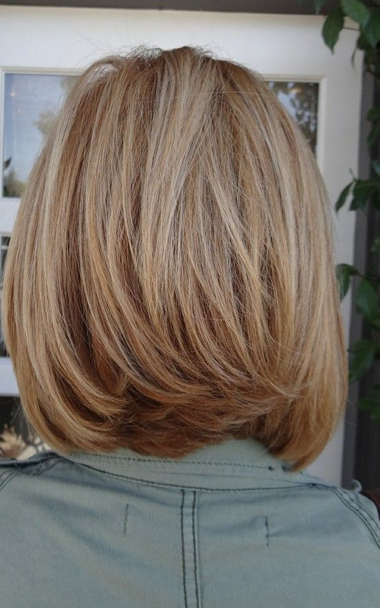 medium length hair. Love the cut @cheryl ng Lynn this is what you need in the back!!