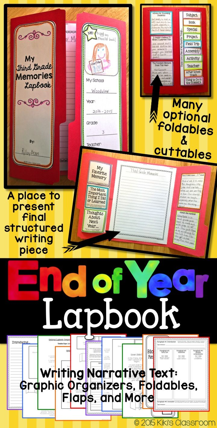 End of the Year Lapbook--structured writing balanced with a high-interest, year-end project!