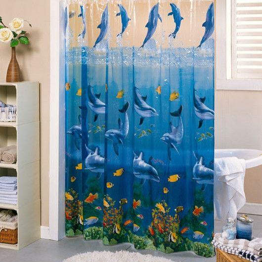 Сад площади прозрачные океанских ветров, утолщение Пвх Peva водонепроницаемый шторы ванной Душ занавес формы ванной