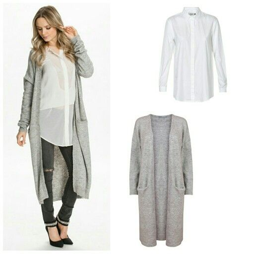 Long grey cardigan - autumn trend