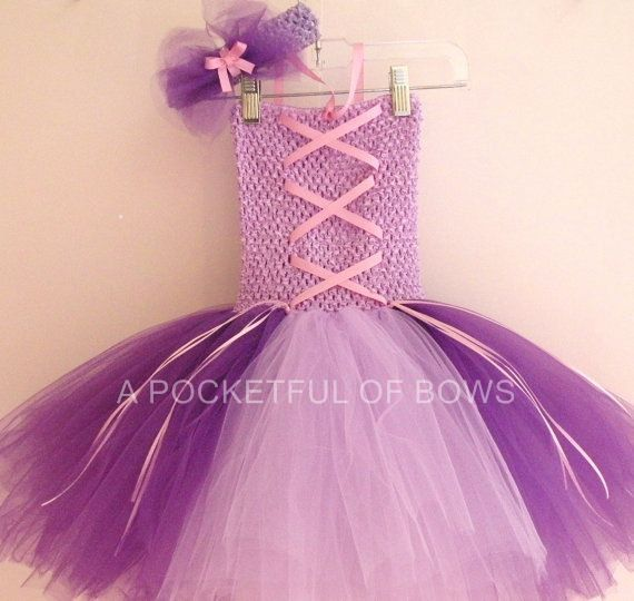 Rapunzel Tutu Dress, Rapunzel Costume, Tutu Costume on Etsy, $32.99