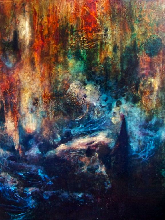 "Saatchi Online Artist: Falina Lintner; Oil, 2012, Painting ""Harmony in Discord"""