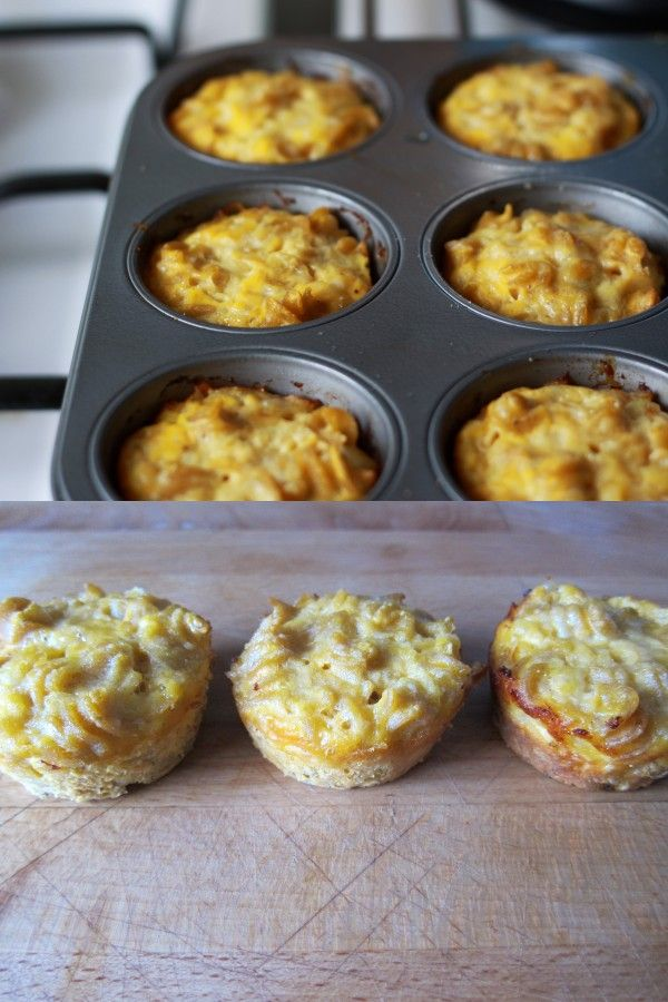 Italian style pasta & cheese cups