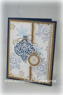StampinLab Stampin Up Endless Wishes. Pretty card. I can make this very soon, my framelits are on the way.