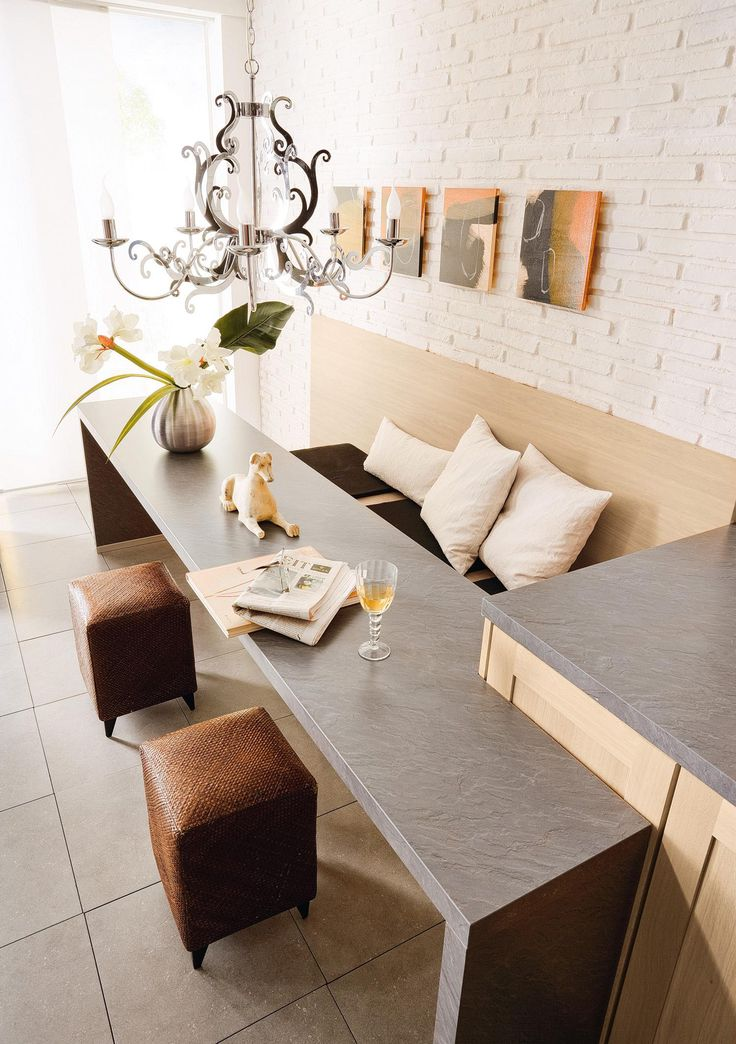Bespoke tables and benches using your worktop material  #showroom #modern #design #bespoke #kitchens #functionality #décor #beauty #style #tips #ideas