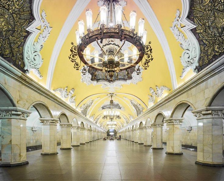 Moscow Underground, Komsomolskaya station by David Burdeny