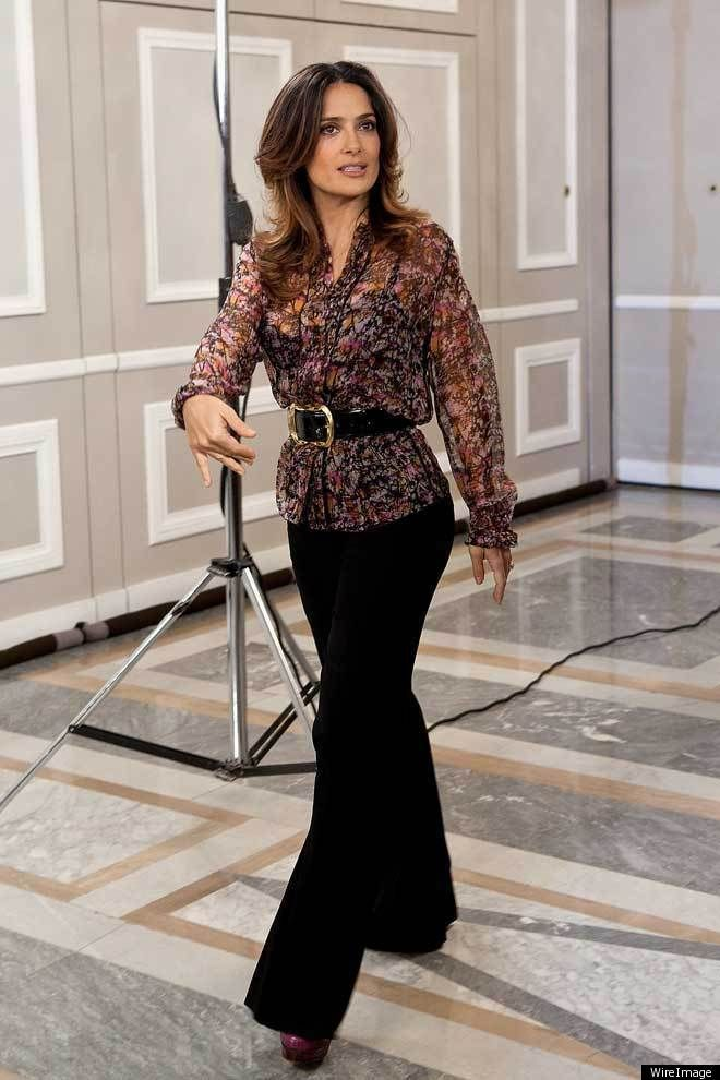 Salma Hayek Belts Her Blouse: Look Of The Day