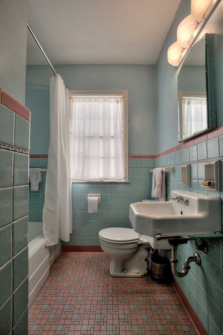 The charm of vintage bathrooms from 1940s interior design - 1949 Time Capsule House Filled With Original Charm 1950s Bathroomold Bathroomsvintage Bathroomsbathroom Ideas1940s