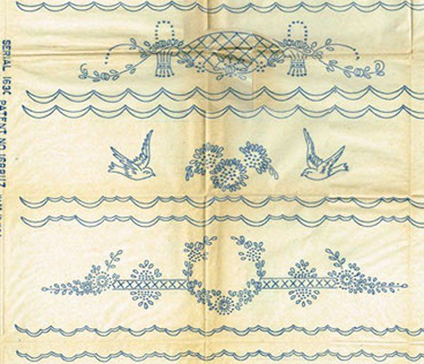 Vintage 1920s Betty Butyon or Joseph Walker Hot Iron Transfer 1630 ORIGINAL Embroidery Transfers Hot Iron Transfer Pretty Flowers for Bedroom or Bathroom Linens This is a wonderful vintage hot iron tr