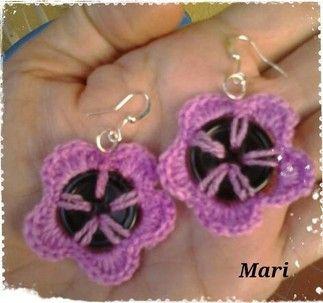 Orecchini Flower Button