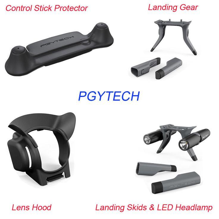PGY Lens Hood Stick Protector Landing Gear LED Headlamp Set for DJI Mavic Pro #RCmall
