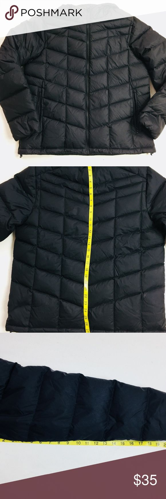 Lands End Puffer Jacket Insulated Hooded Down Lands End Puffer Jacket Mens Sz L 42-44 lightweight hooded down/feather insulated 80% down 20% feather filled,  light weight   in gently worn condition  A2512kt10 Lands End Jackets & Coats Puffers