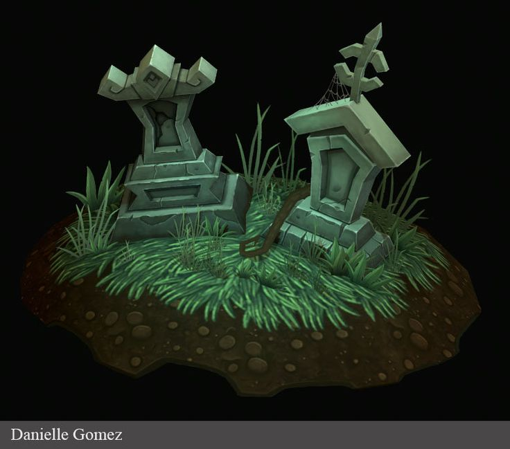 Tombstones, Danielle Gomez on ArtStation at https://www.artstation.com/artwork/tombstones-b2fa751c-feb0-443c-80c4-04af711944bd