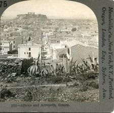 ATHENS AND ACROPOLIS GREECE STEREOVIEW by Keystone View Co.