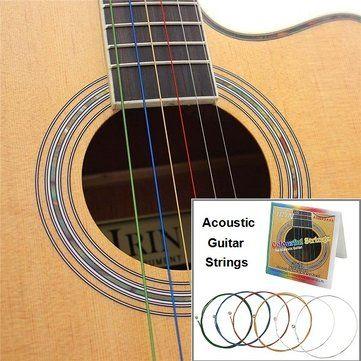 IRIN A105(.012-.053) Colourful Acoustic Guitar Strings