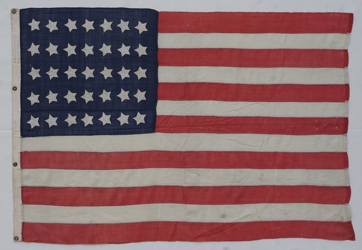 "35 STAR FLAG MADE BY WILLIAM MINTZER, PHILADELPHIA  35 Star Flag Made by William G. Mintzer, Philadelphia. West Virginia Statehood, 1863-65. Height 41 1/2""   Length61 1/2""  Michael Hall Antiques #michaelhallantiques #flags #flag #americanflag #antiqueflag #antiqueflags #antiqueamericanflag #americanantiques"