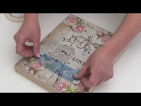 Como aplicar laminas de decoupage con adhesivo multiproposito y mod podge? Eq Arte - YouTube