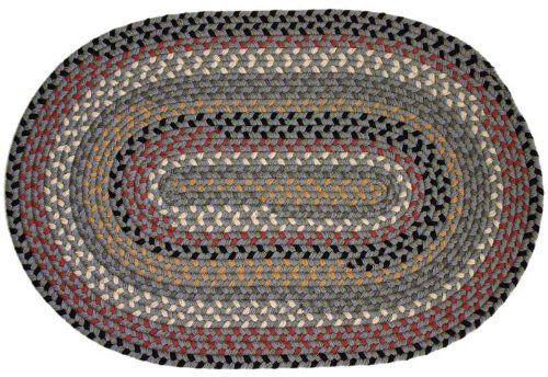 Pilgrim Indoor / Outdoor Rugs - Mist 10' Round Braided Rug by Rhody Rugs. $424.99. Available in matching Chair Pads and Stair Treads!. 10' Round Braided Rug. 100% Texturized Polypropylene. Quality Crafted in New England. Guaranteed to lie flat!. Pilgrim Indoor / Outdoor Braided Rug collection are what you would envision in a classic country setting. Pilgrim braided rugs are crafted from 100% texturized polypropylene, making it durable enough to withstand anything insi...