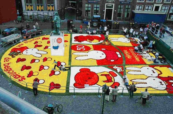 Miffy flower carpet celebrating 50th birthday