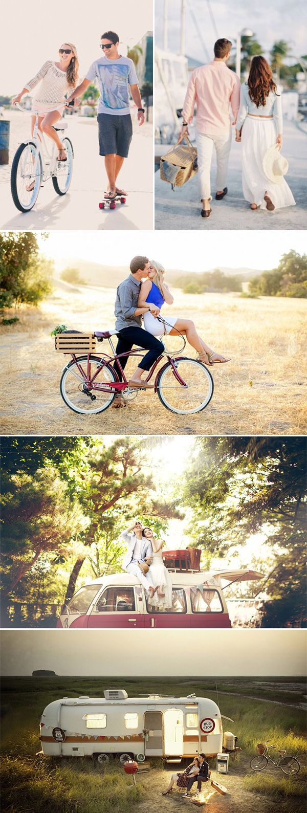 A Sweet Date! 25 Cute and Romantic Engagement Photo Ideas - Romantic Getaway
