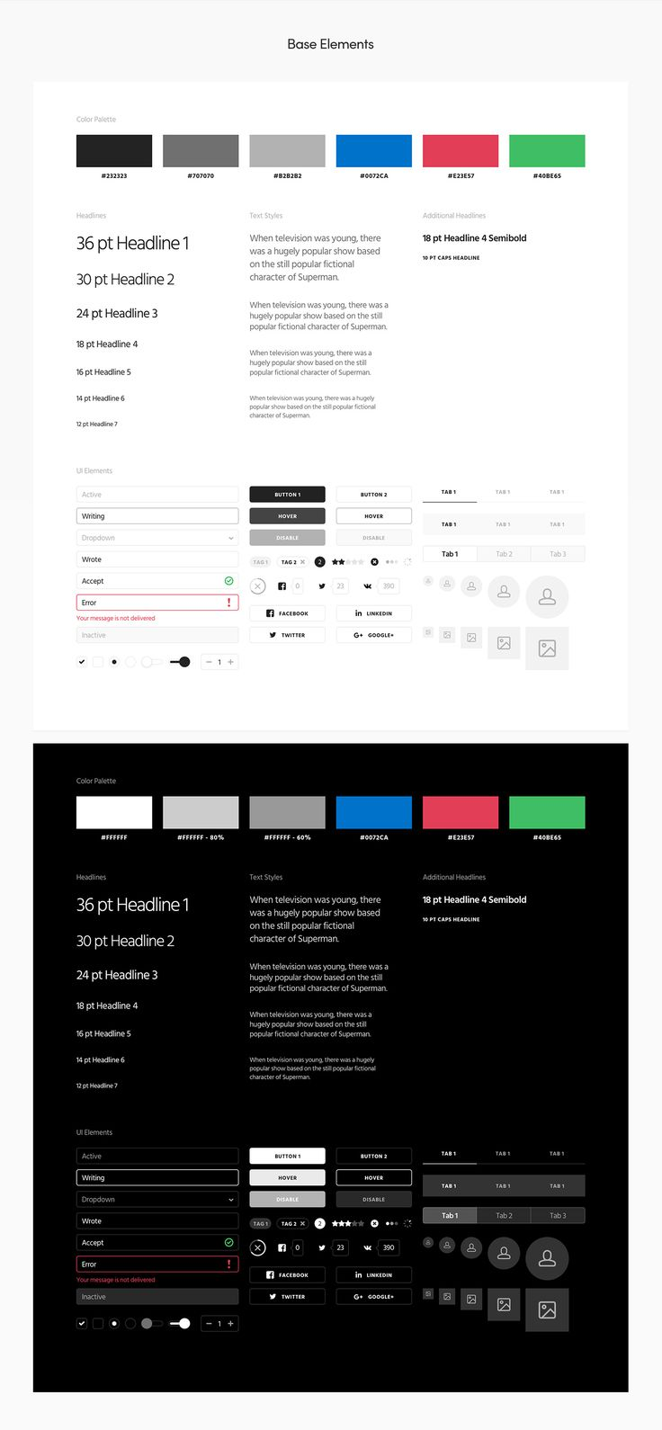 Ease UI Components is a big pack of strict, modern and stylish UI components for…