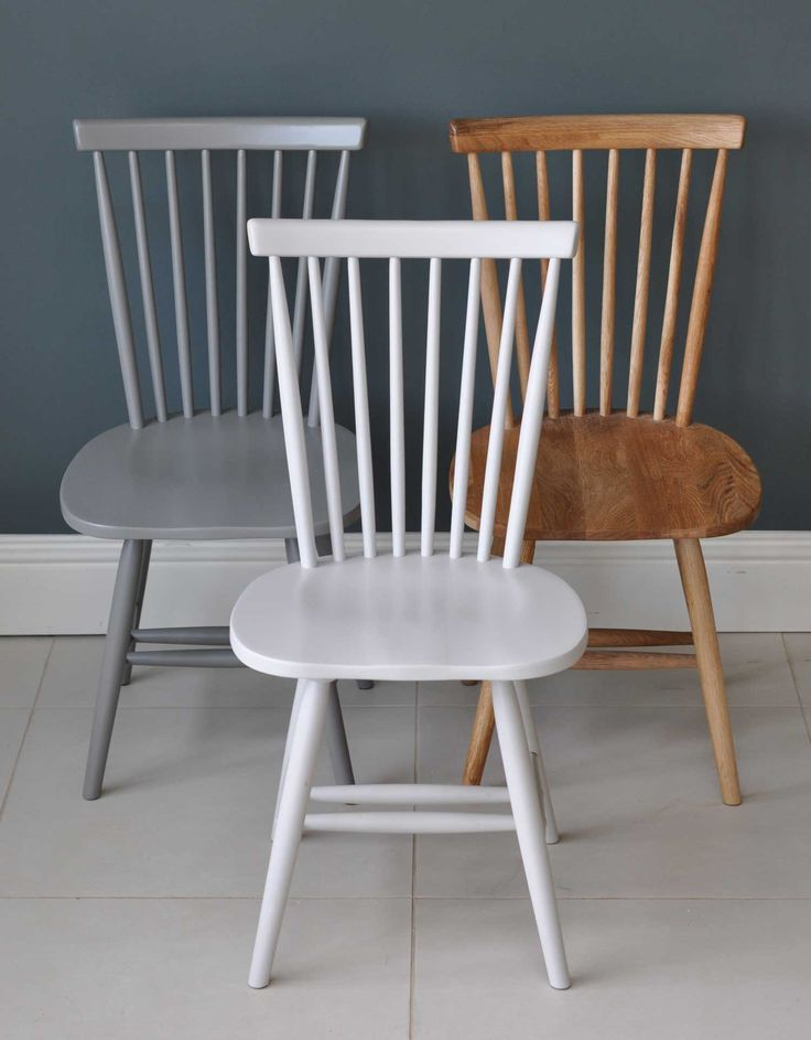 Spindle Back Valley Dining Chair - Painted or Natural Oak. Choose from antique…