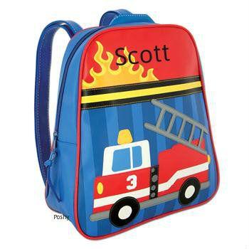 Poshy Kids - Personalized Kids Backpacks GoGo Fire Truck, $23.99 (http://www.poshykids.com/personalized-kids-backpacks-gogo-fire-truck/)