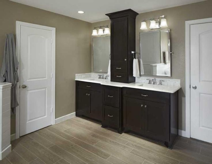 22 best master bathroom center cabinets images on pinterest for Bathroom cabinet renovation ideas