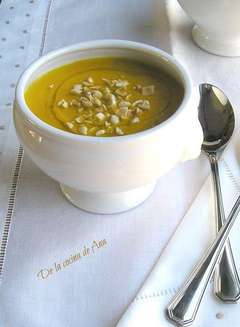 Crema de Zanahorias con Almendras (Thermomix)