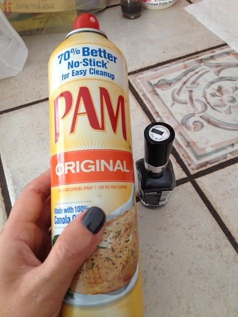 Spray PAM on wet nails, wipe it off, theyre completely dry! No way.. from Real Simple magazine  ---  will have to try this..  not sure I believe it!