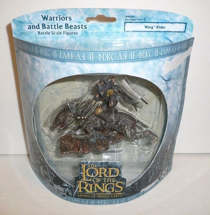 Lord of the Rings Armies of Middle Earth Mini Figures AOME LOTR Orc on Warg #PlayAlongToys