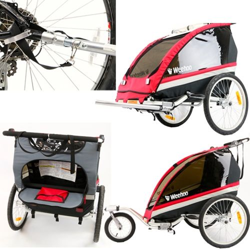 Wee hoo buggy $499 weighs 12kg, folds up, has a rain cover, converts to pram