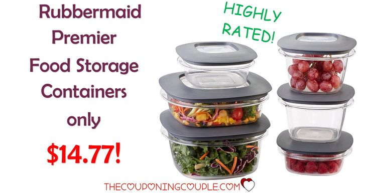 BEST PRICE! The Rubbermaid Premier Food Storage Containers are only $