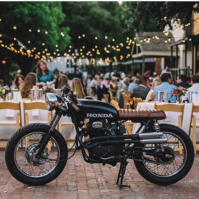 Why not ride the bike to your wedding. Great looking cb350…