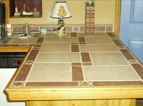 Tile counter top counter tops pinterest ceramics for Porcelain countertops cost