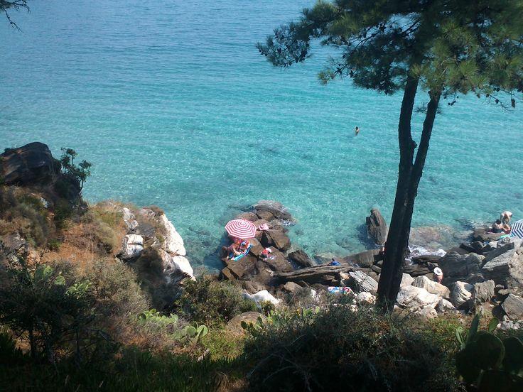 rocks, sun, seaside