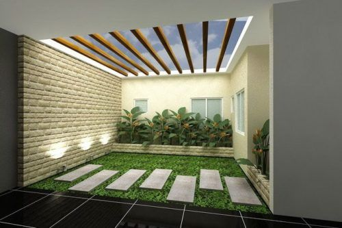 Contoh Desain Taman Kecil Rumah Minimalis Modern