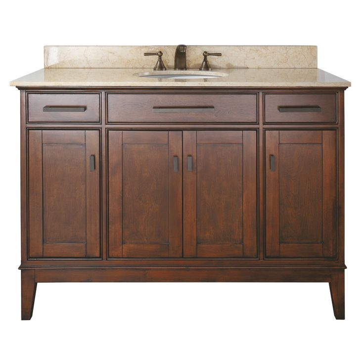 Avanity Madison 48 Inch Single Vanity In Tobacco Finish With Sink And Top |  Overstock