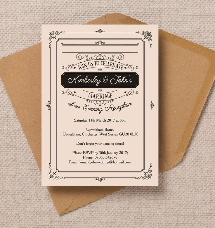 wedding reception invites%0A Top    Printable Evening Wedding Reception Invitations  Elegant Vintage