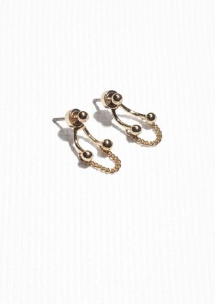 & Other Stories | Drop Back Earrings