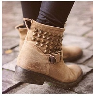 Studded Ankle Booties.