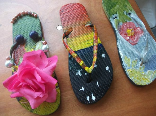 Stand ye in holy places flip flop crafts yw ideas for Flip flops for crafts
