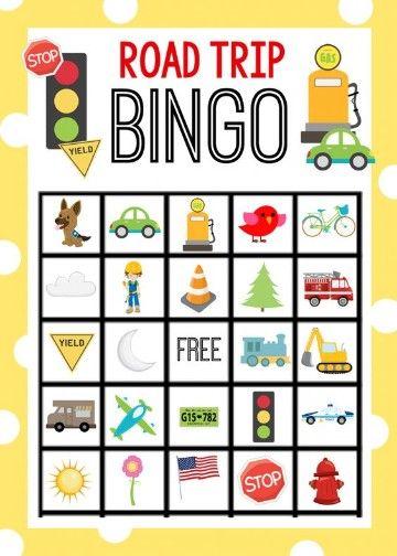 cartones de bingo para niños transito
