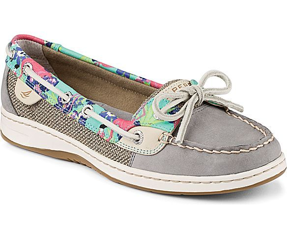 Want!!.  Sperry Top-Sider Angelfish Flamingo Floral Slip-On Boat Shoe