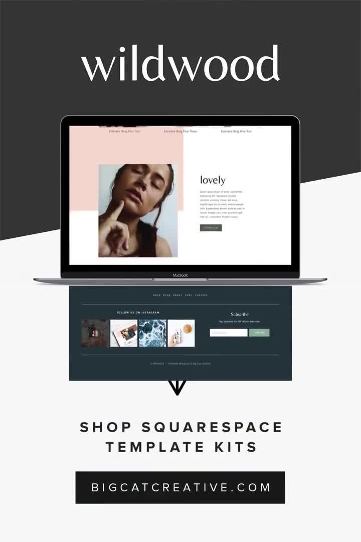 The Wildwood Squarespace Template Kit Is An Artistic Collage