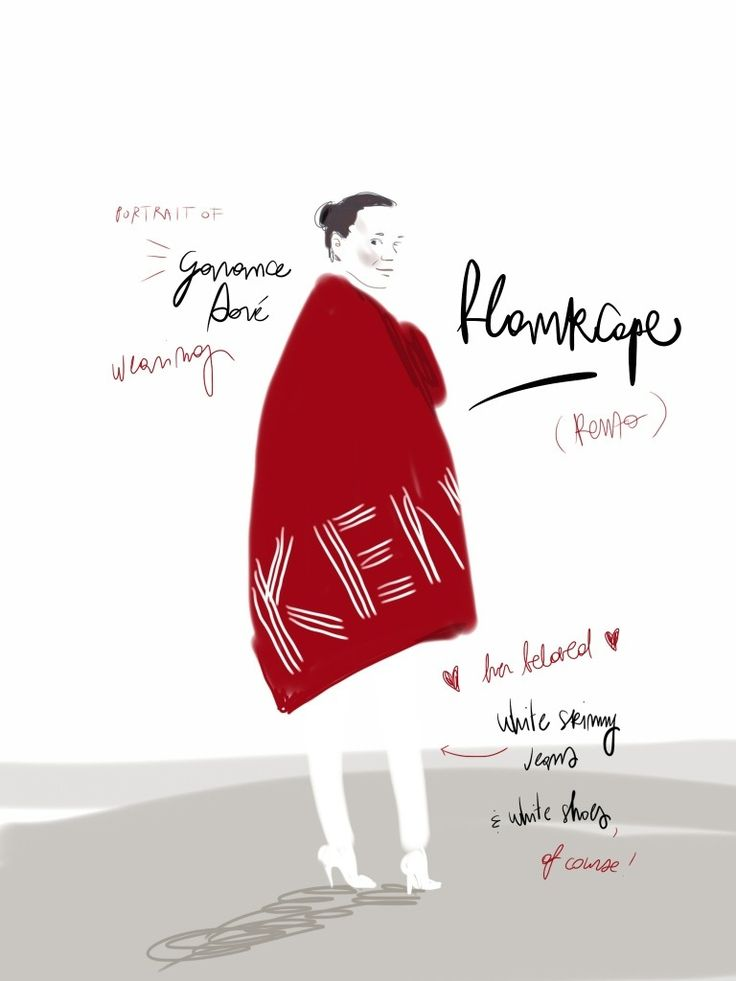 Garance Doré and the blankcape http://wp.me/p2CxnG-m5 #portrait #illustration Open Toe, fashion illustrated - Opentoeillustration.com
