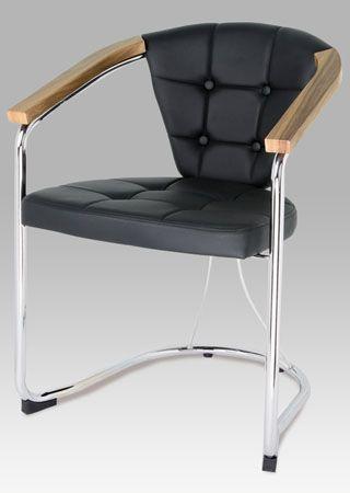 SF-804 BK  Konferenční židle, černá koženka / chrom.