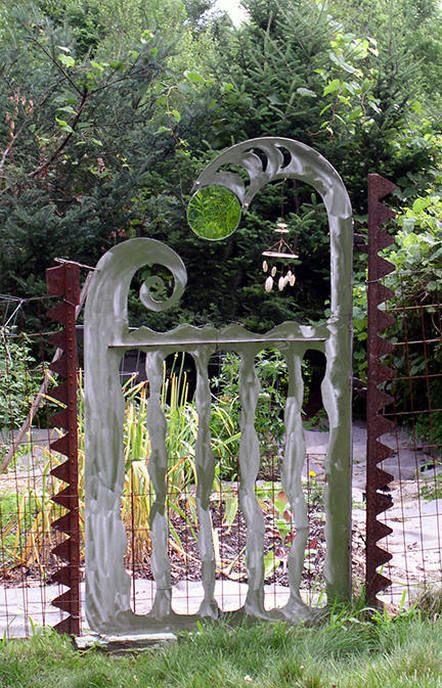 Wonderful gate for a cottage garden