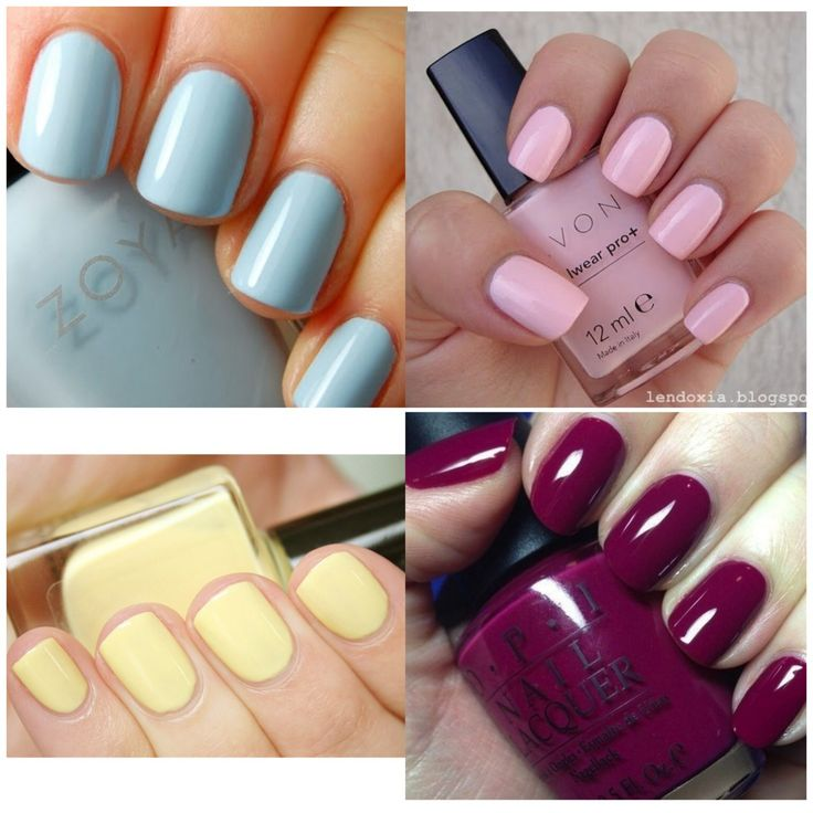 Winter - Spring - Summer - Fall solid color nails(;