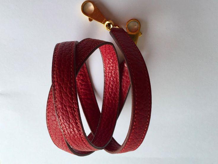 HERMES Kelly Shoulder Strap Red Fjord Gold Hardware Bolide Authentic